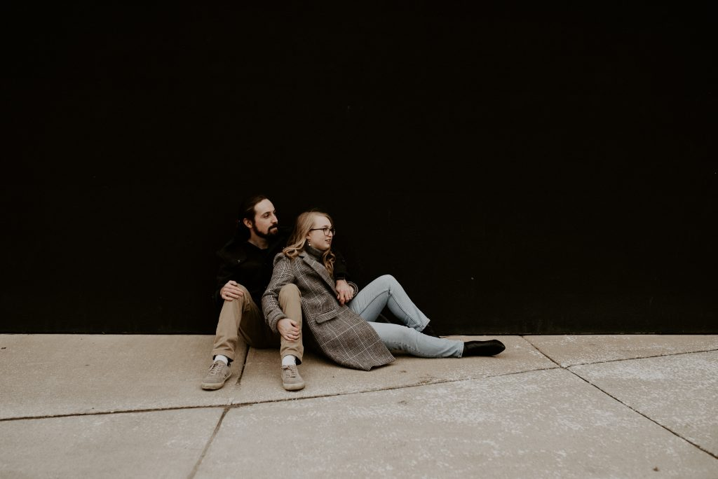 Couple in Downtown Kansas City
